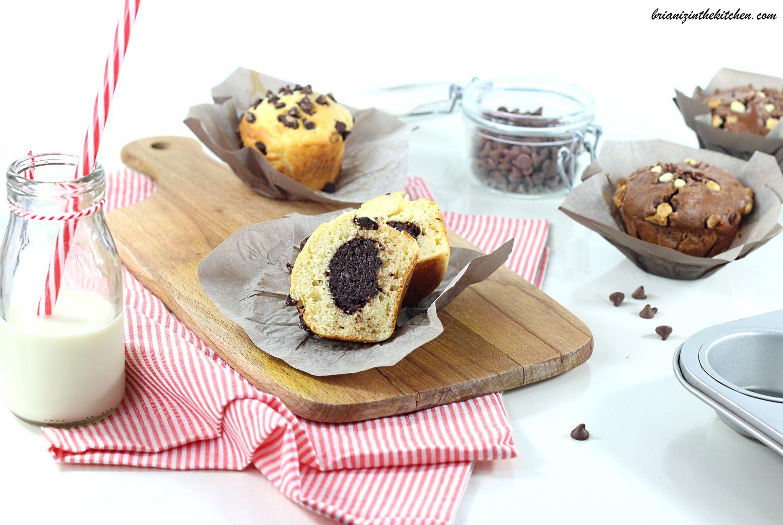 Muffins Coeur Pâte à Tartiner et Pépites de Chocolat