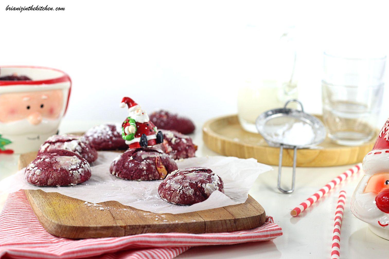 Purple Velvet Crinkles Cookies au Chocolat Blanc