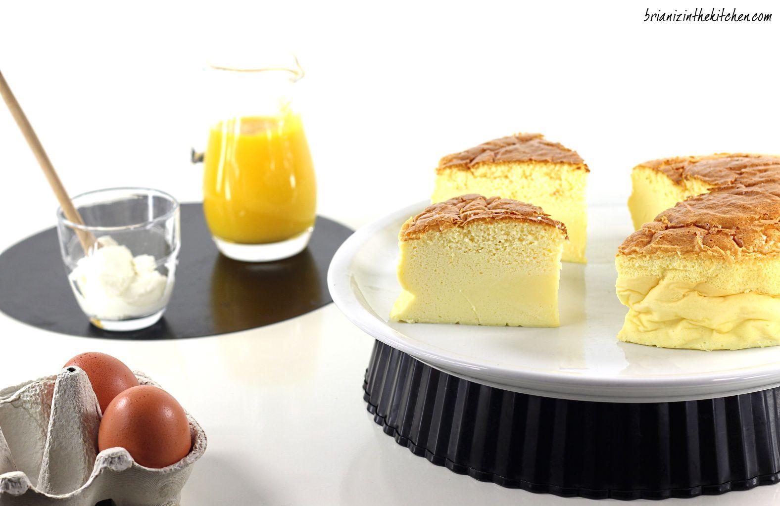 Cheesecake Japonais et Coulis de Mangue