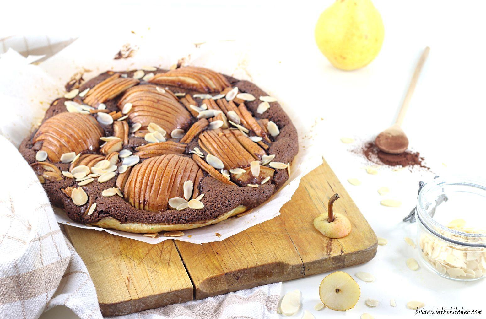Tarte Frangipane au Chocolat et Poires