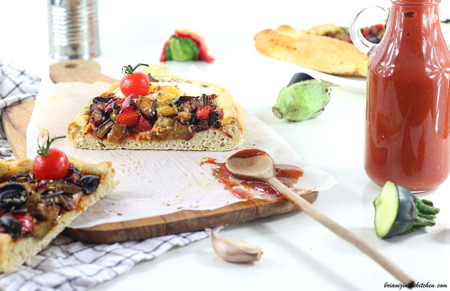 Pizza Boat aux Légumes du Soleil {Façon Ratatouille}
