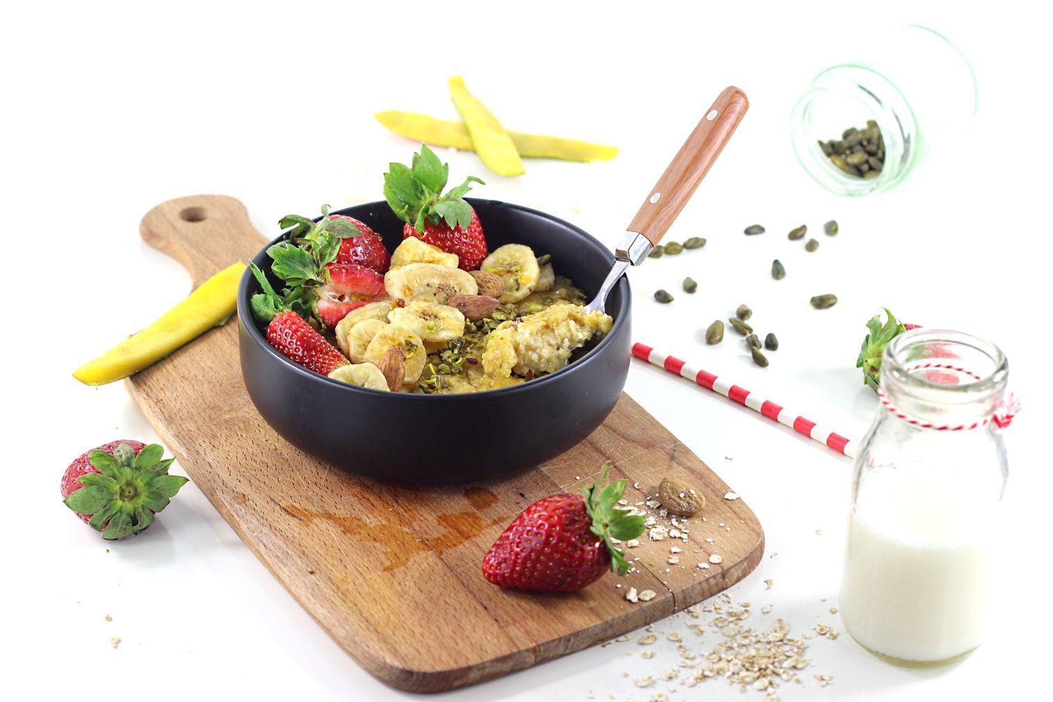 Porridge Fraises et Mangue