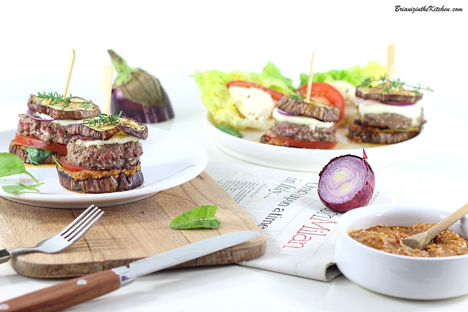 Mini Burgers d'Aubergines aux Saveurs Italiennes