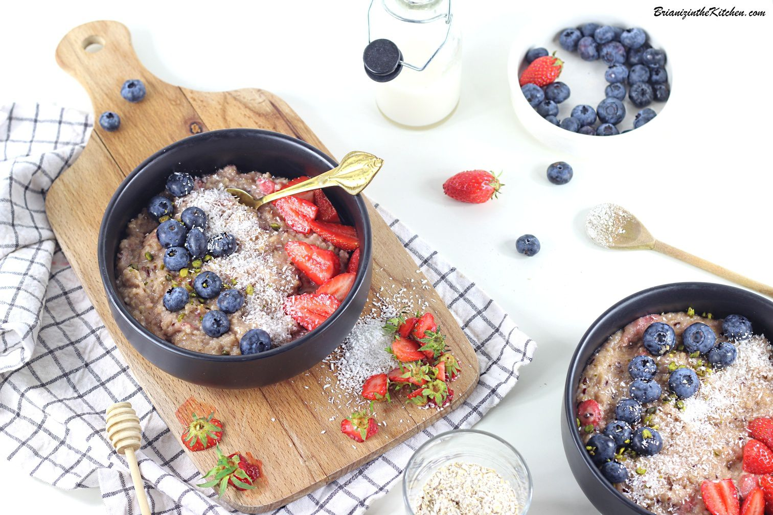 Porridge Son d'Avoine, Fraises and Co {CoriCo}