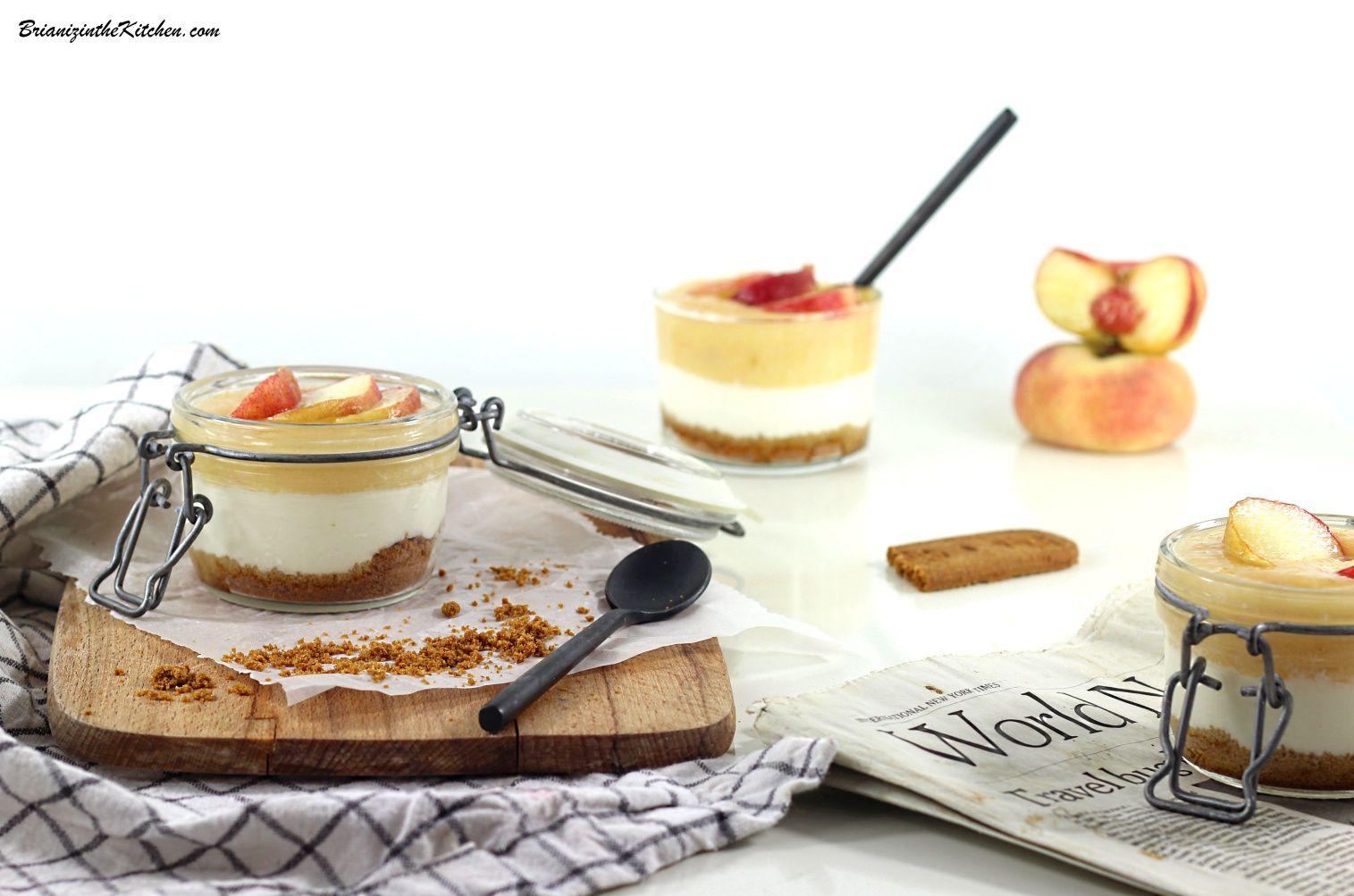 Cheesecakes Sans Cuisson aux Pêches Plates Jaunes {Recette Express}