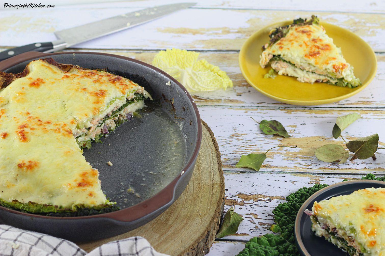 Lasagnes de Chou Vert au Saumon