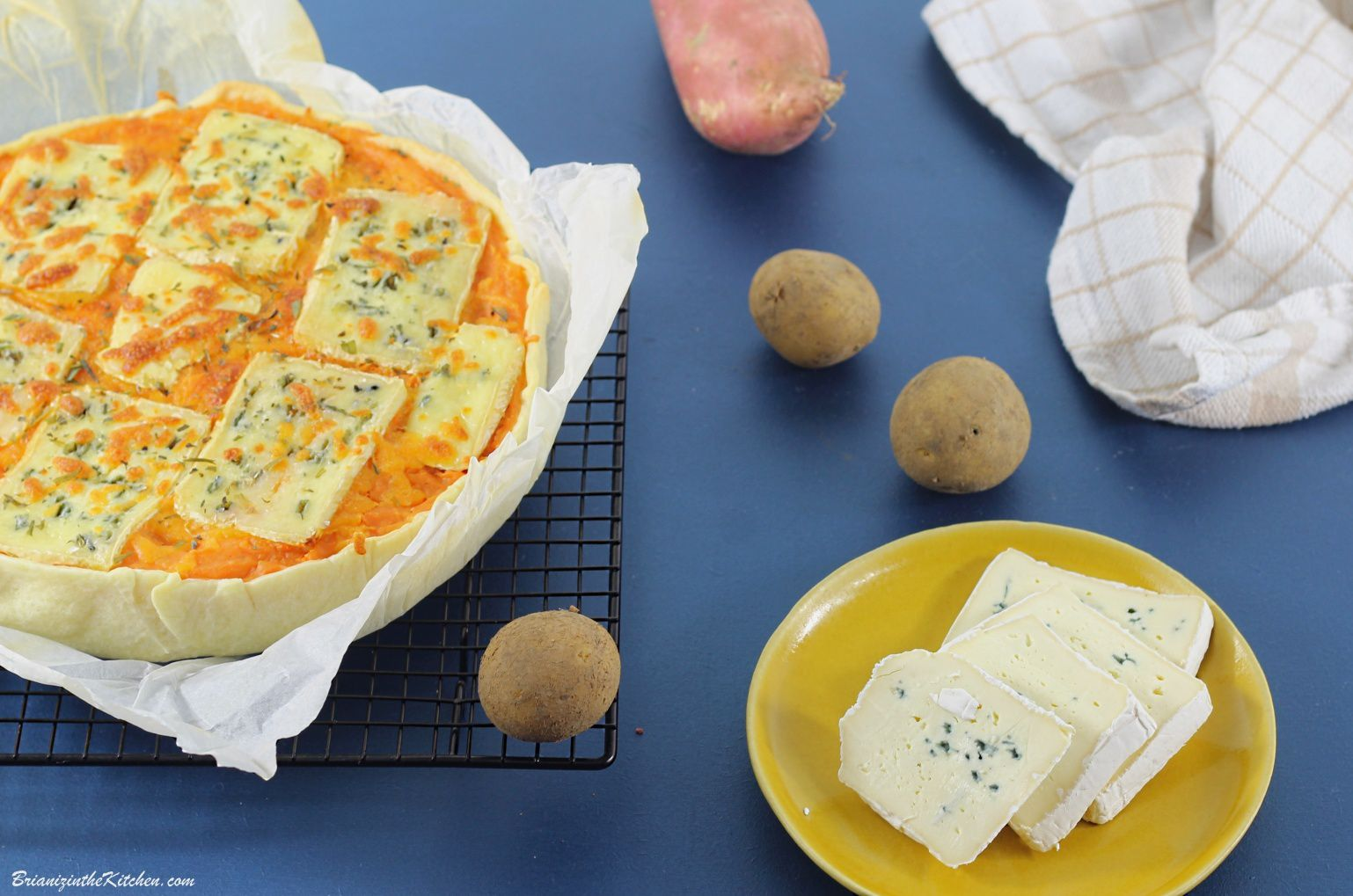 Tart'Hachis Patates Douces et Bleu