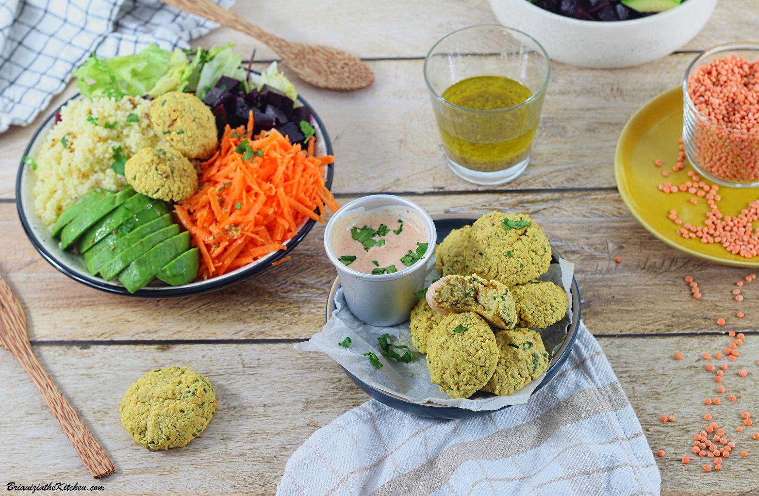 Falafels de Lentilles Corail {Cuisson au Four}