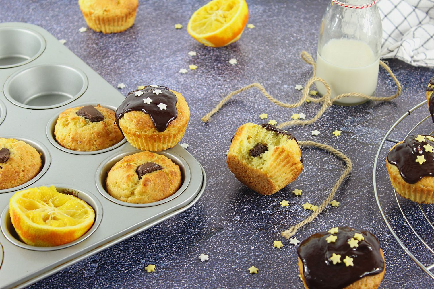 Muffins à l'Orange et au Chocolat