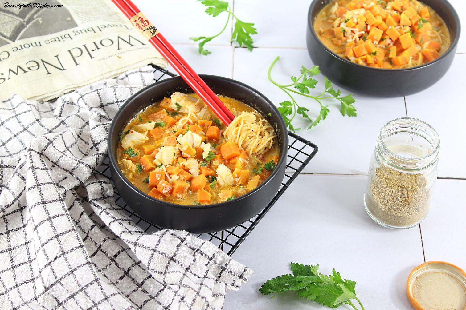 Soupe Thaï Patates Douces et Cabillaud