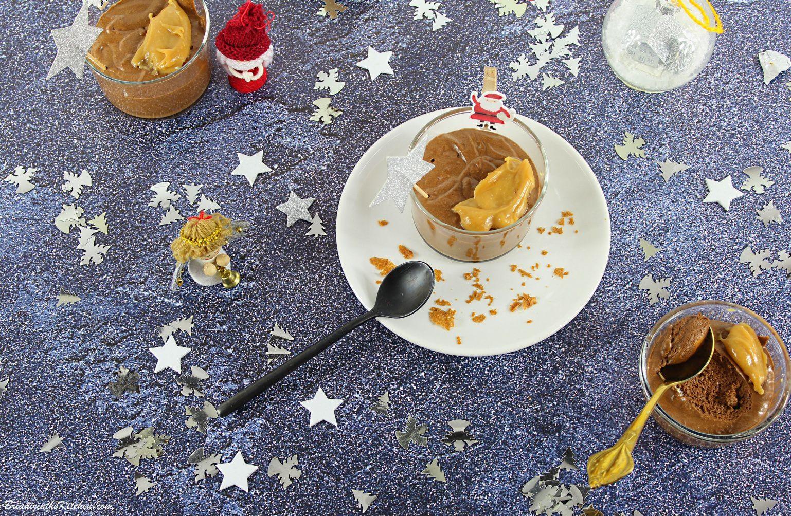 Mousse au Chocolat Express et Caramel au Beurre Salé
