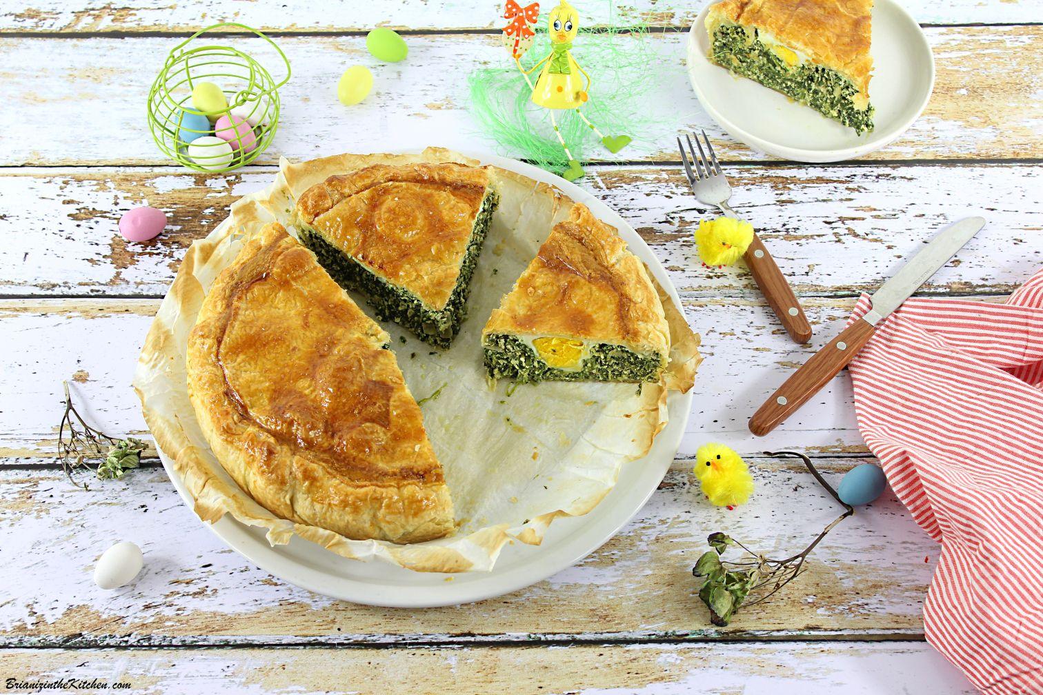 Torta Pasqualina {Tourte de Pâques Epinards et Oeufs}