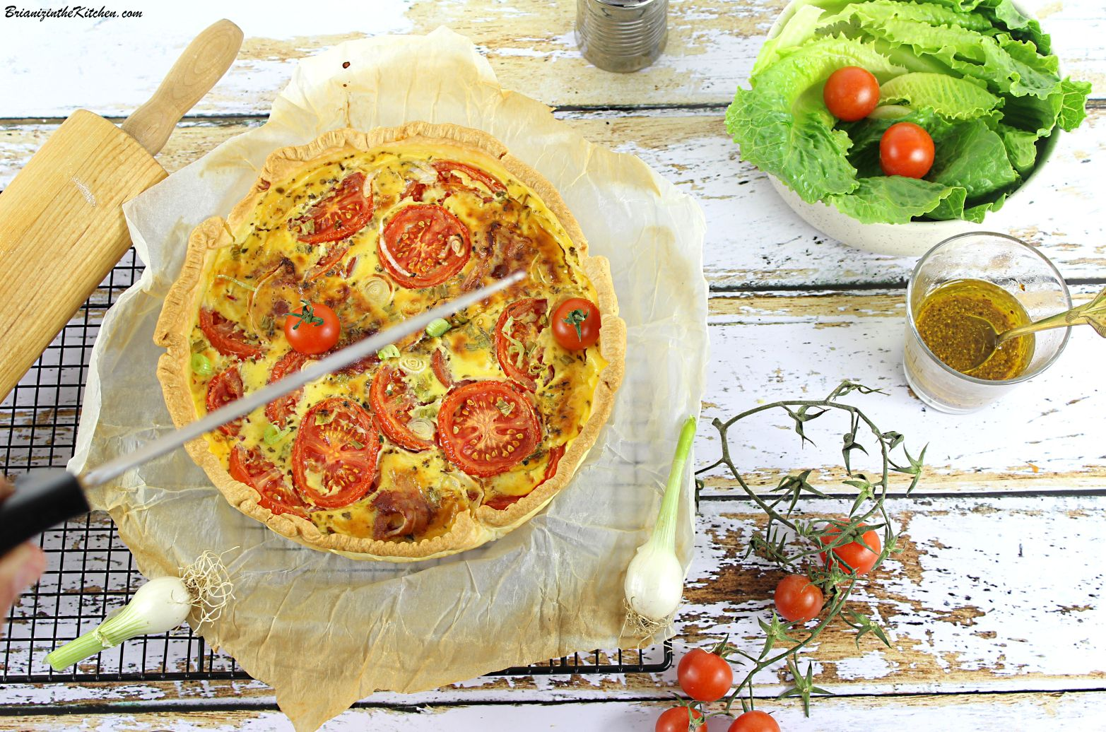 Quiche Tomates et Bacon
