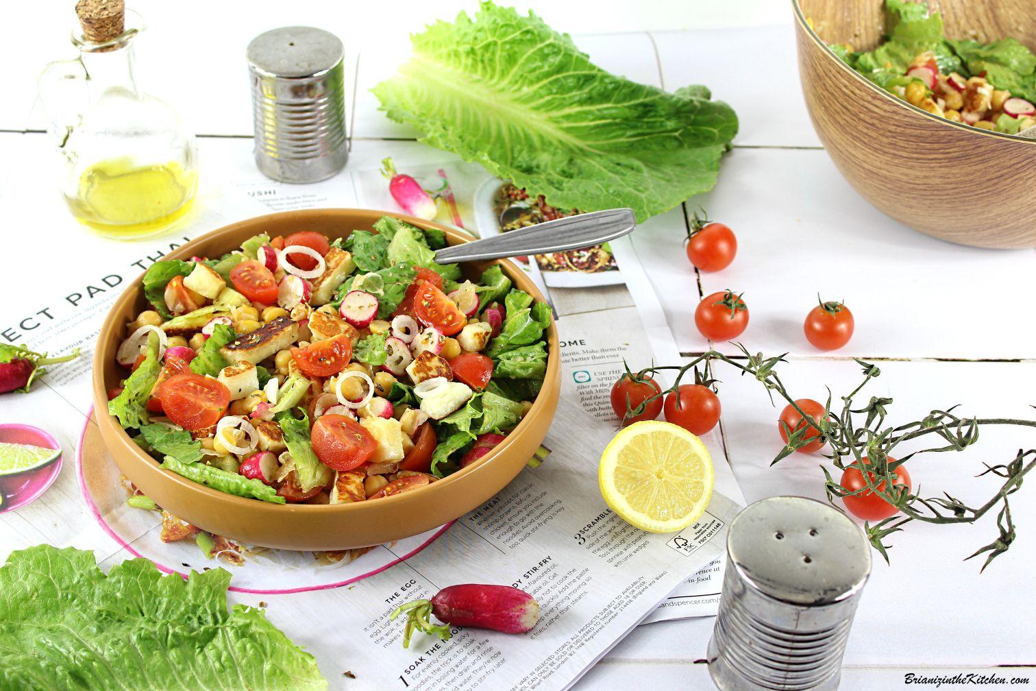 Salade de Pois Chiches, Halloumi, Radis and Co