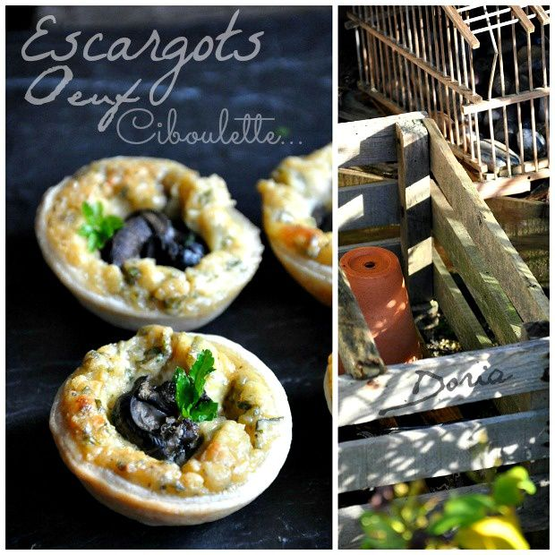 Mini-quiches à l'escargot