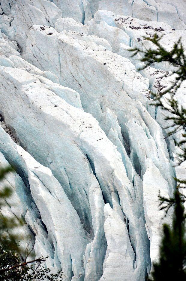Chamonix 2014 (5) ... 2ème rando au Glacier des Bossons par le Chalet des Bossons et le Chalet des Pyramides