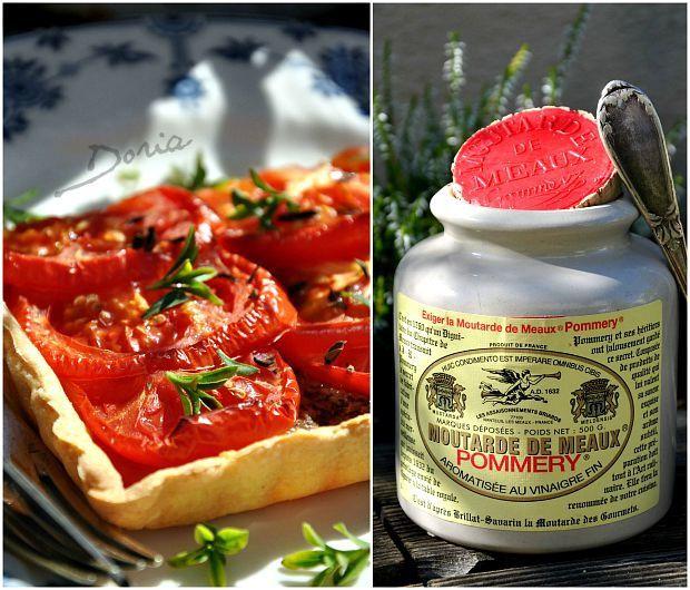 Tarte à la tomate et moutarde de Meaux