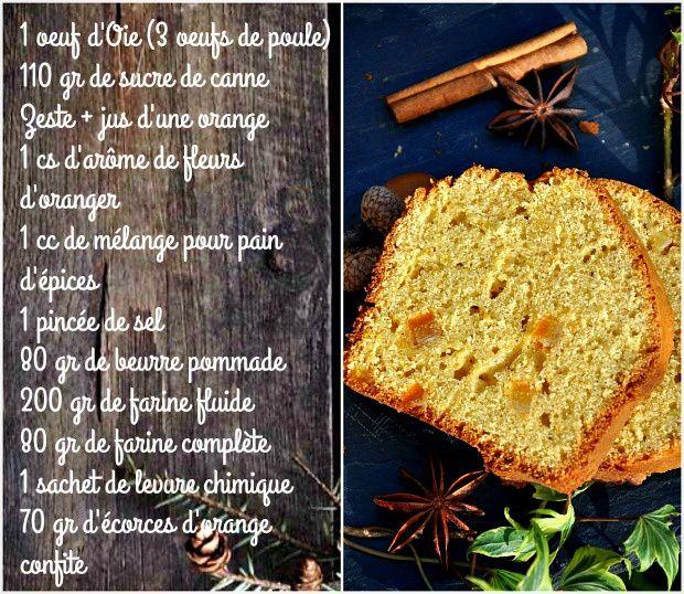 Cake à l'orange et aux épices à pain d'épices