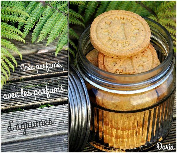 Biscuits à l'eau de fleurs d'orangers et zestes de clémentines
