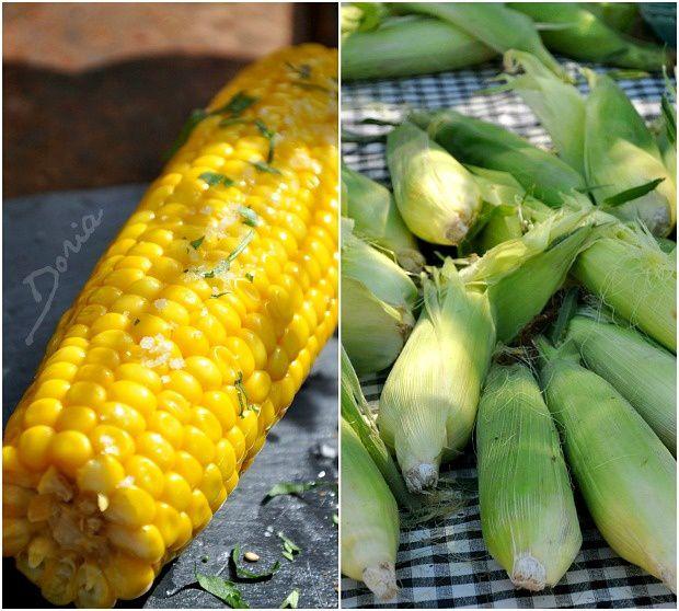Épis de maïs à l'américaine et duo de viandes