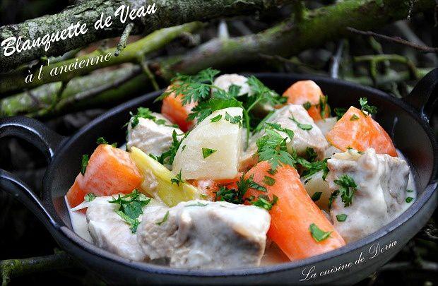 Blanquette de veau l 39 ancienne la cuisine de doria - Cuisine blanquette de veau a l ancienne ...