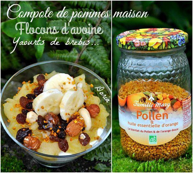 Verrine au yaourt de brebis, compote de pommes maison et fruits secs