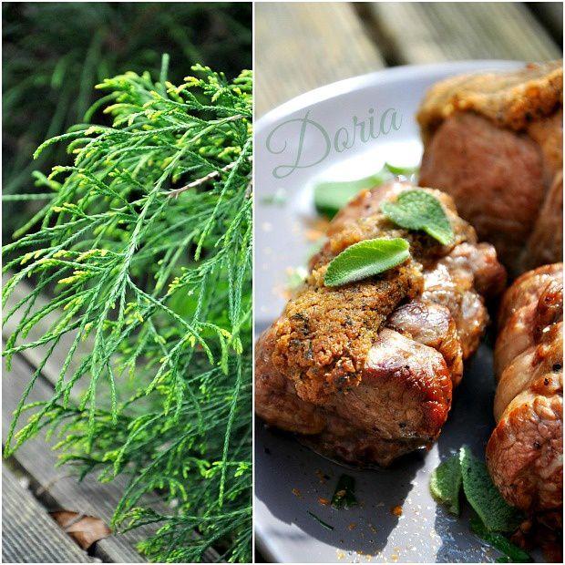 Carré et gigotins d'agneau en croûte de sauge, fèves et asperges au jus de viande