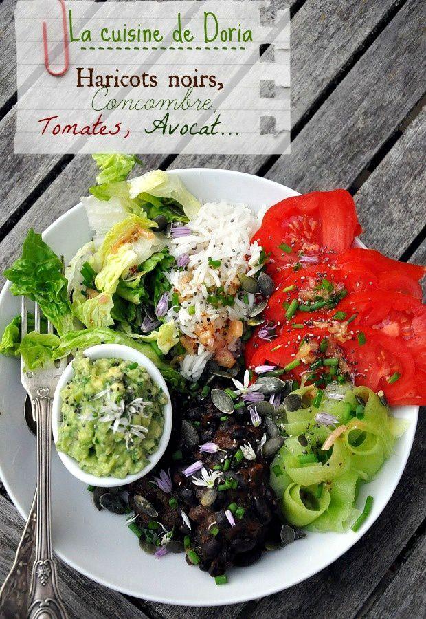 Salade Vegan aux haricots noirs sauce chipotle