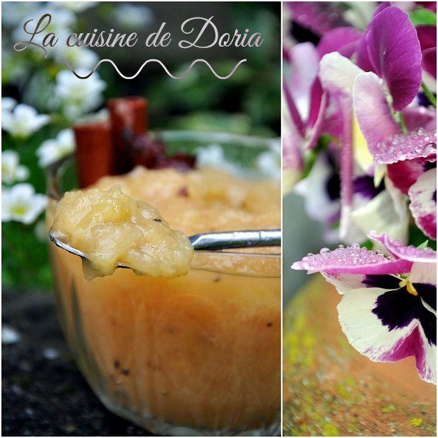 Compote de pommes maison à la cannelle, étoile de badiane et cardamone
