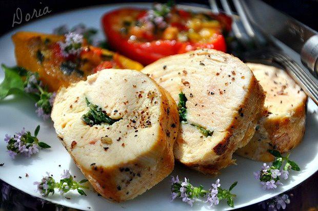 Filets de poulet à l'estragon et petits farcis aux herbes
