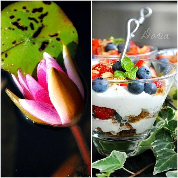 Trifles à la fraise et myrtille