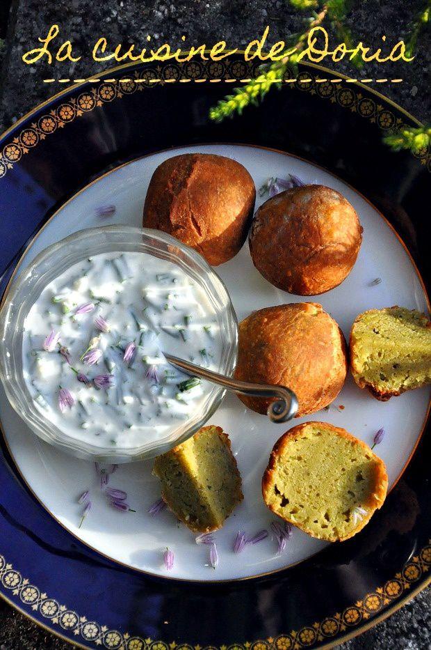Falafels, sauce yaourt à la ciboulette