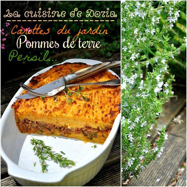 Hachis parmentier aux carottes du jardin et pommes de terre