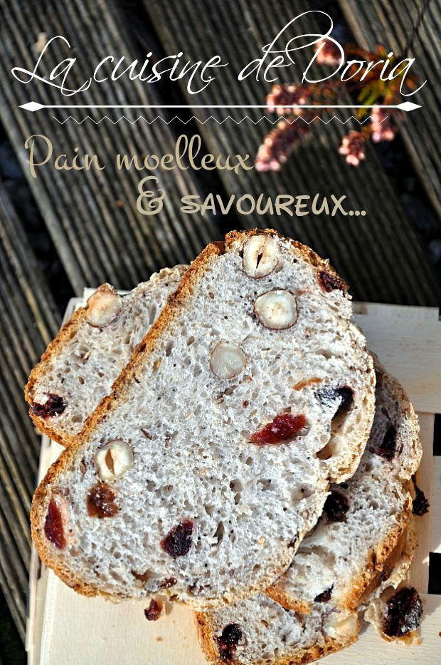 Pain aux céréales et graines, noisettes, cranberries et raisins secs