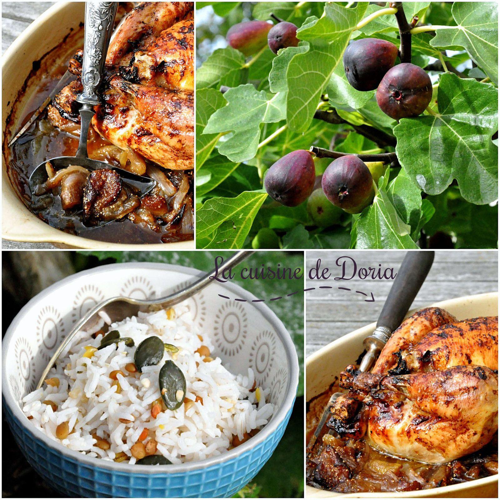 Poulet aux figues du jardin