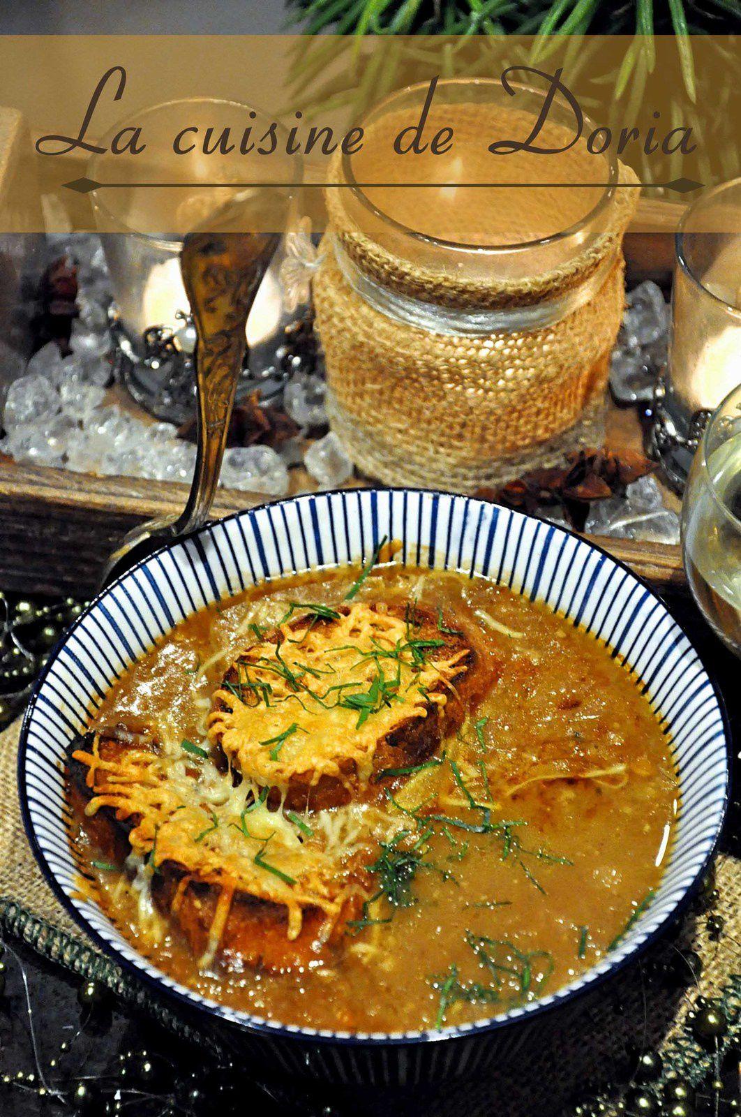 Soupe à l'oignon au Roquefort