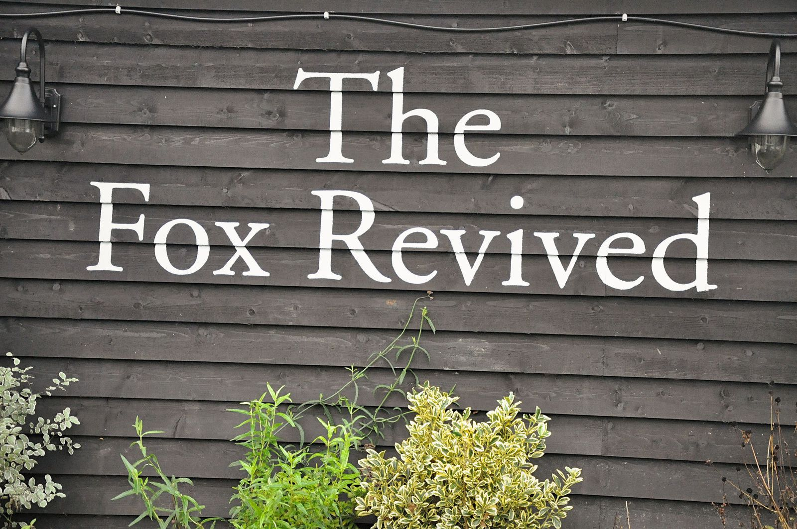 Week-end en Angleterre... The Fox Revived