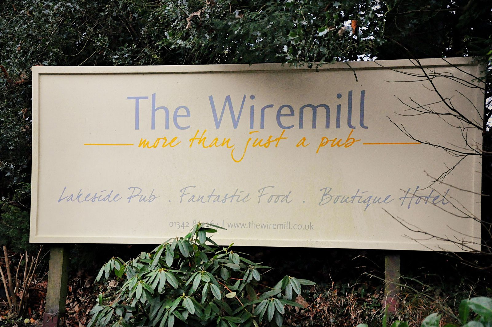 Week-end en Angleterre... The Wiremill, Pub