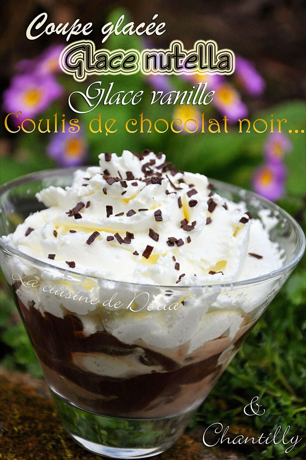 Coupe glacée à la chantilly