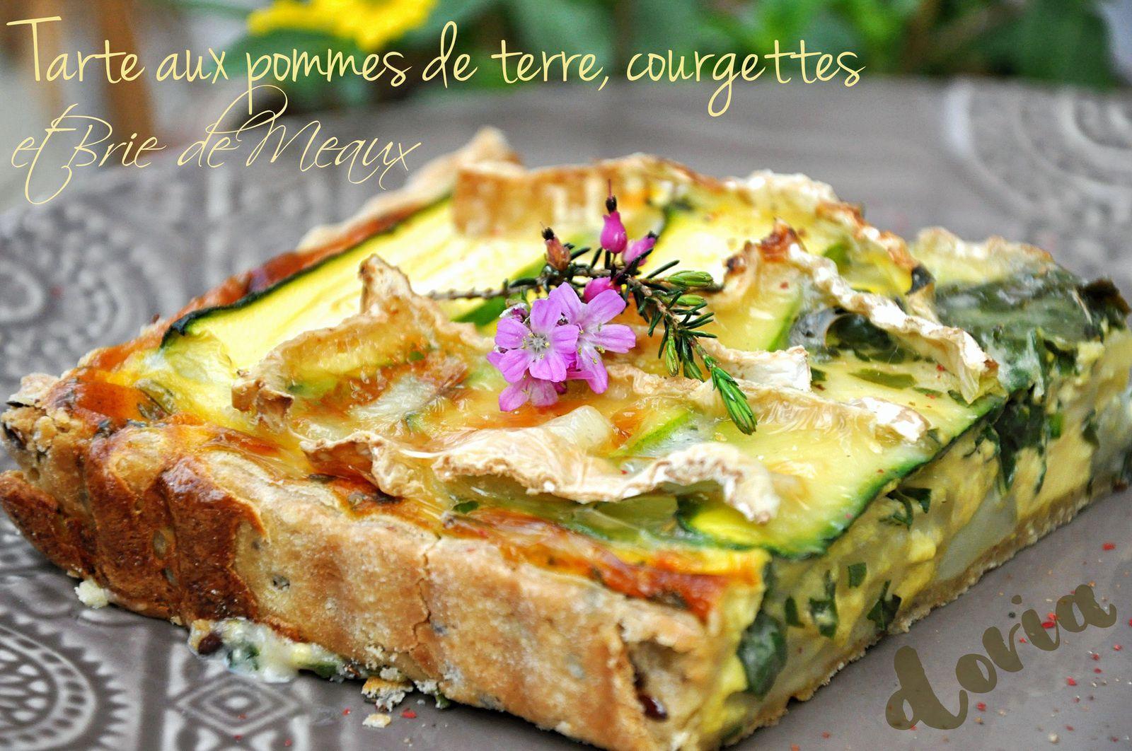 Tarte aux pommes de terre, courgettes et Brie de Meaux