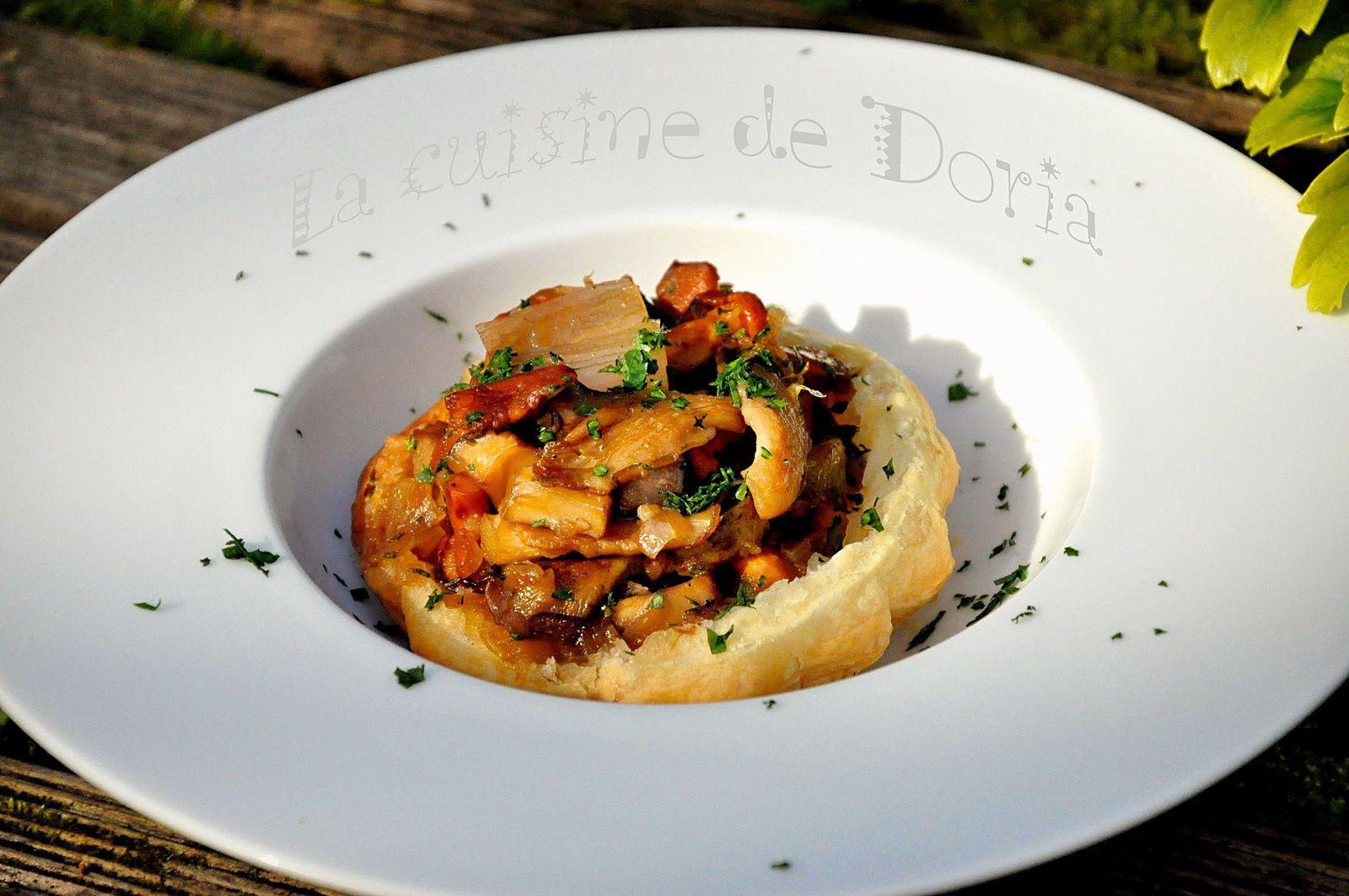 Tartelettes aux champignons caramélisés