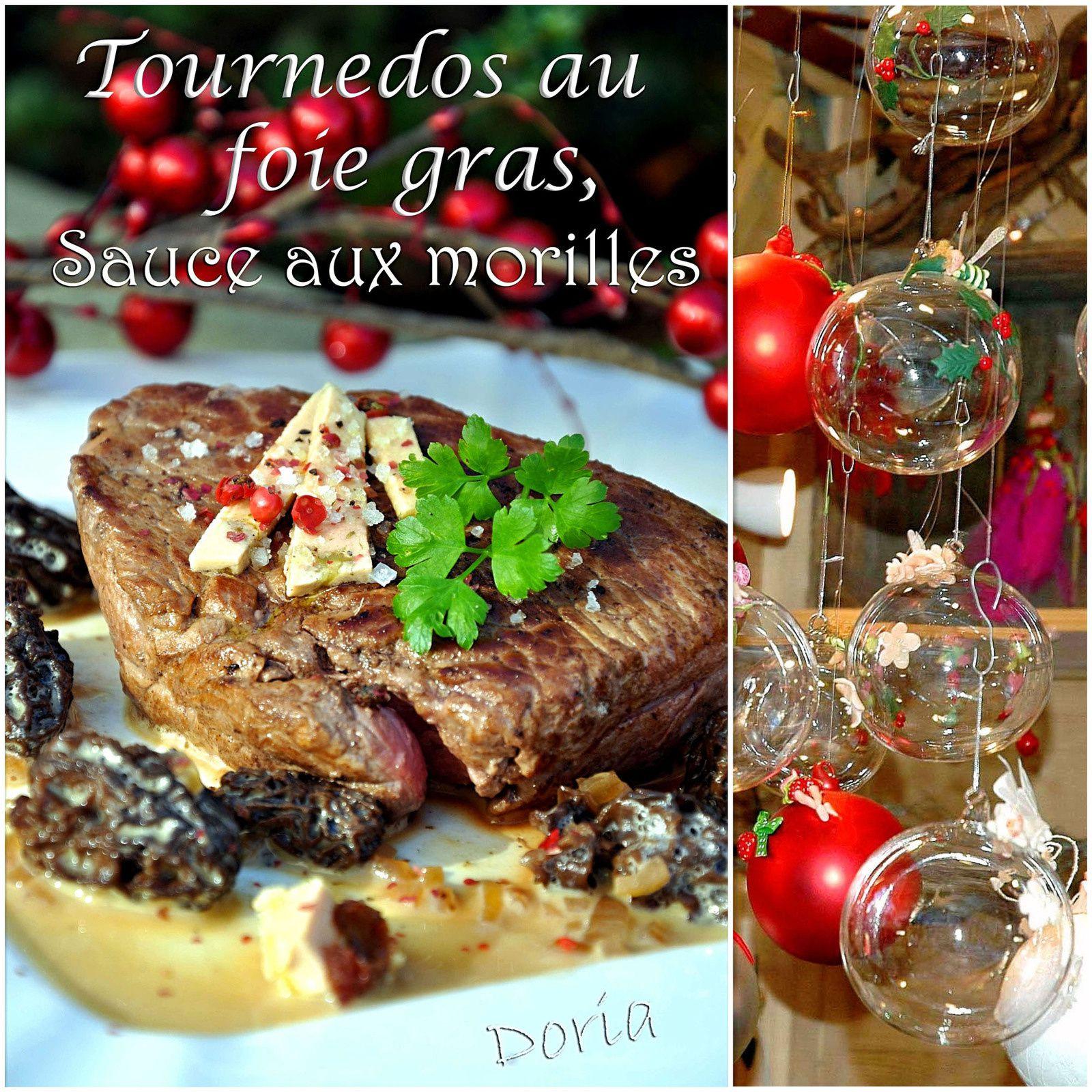 Tournedos au foie gras, sauce aux morilles