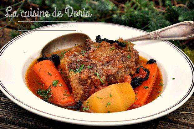 Queue de boeuf aux carottes et rutabagas