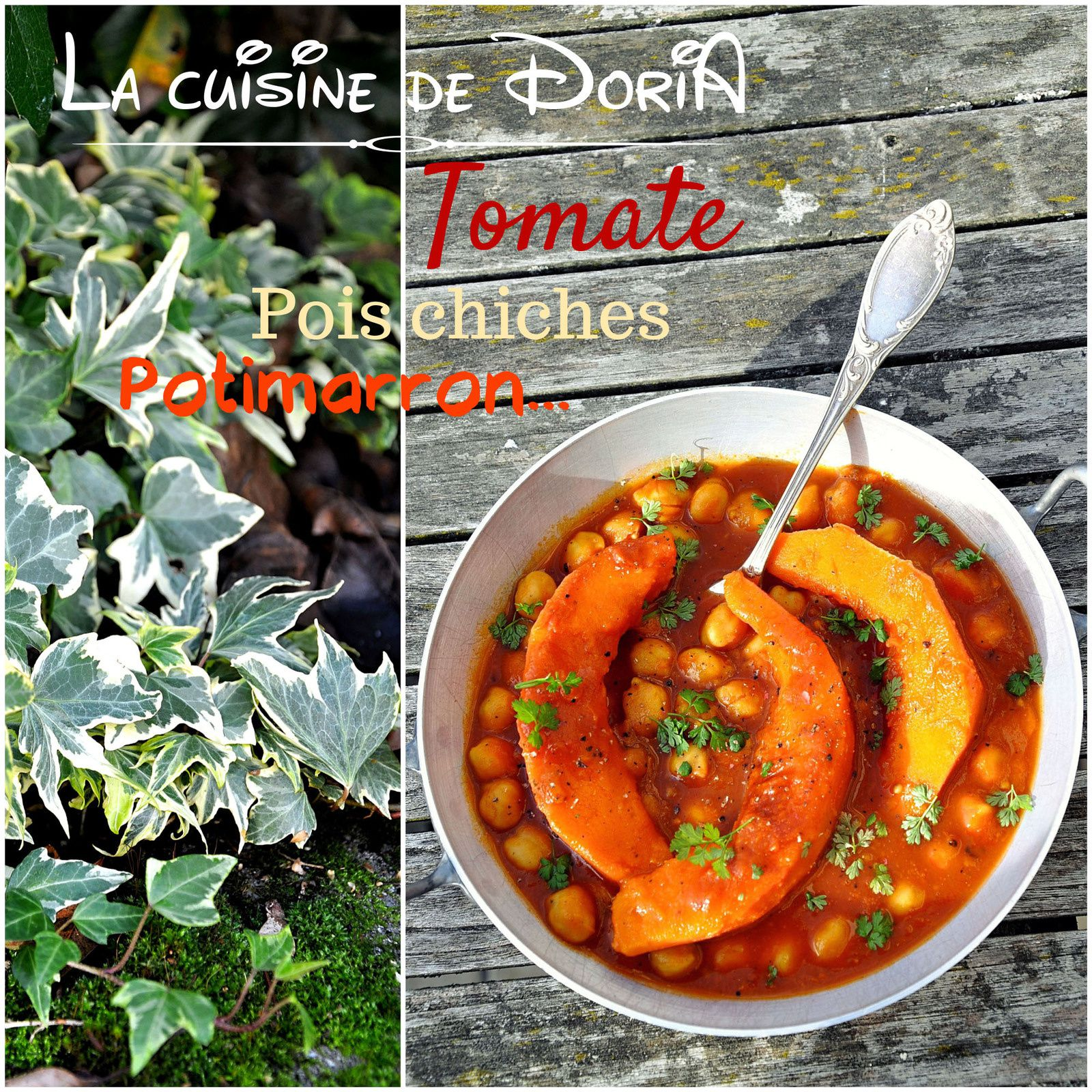 Curry de courge et pois chiches