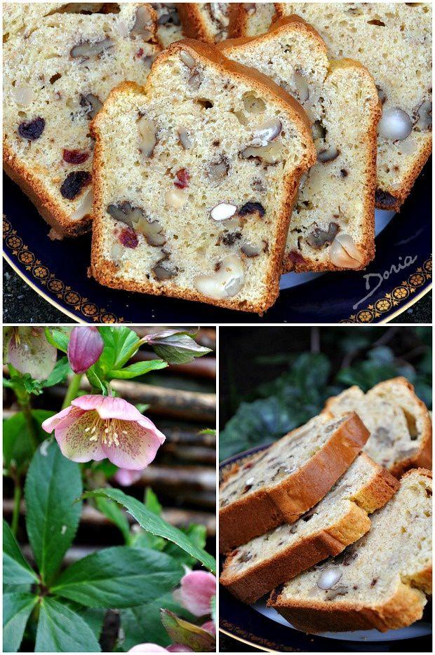 Cake aux fruits secs et vanille