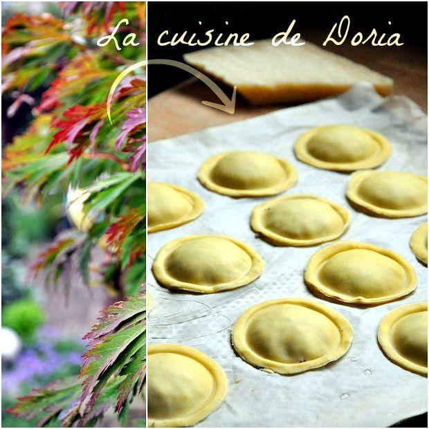 Ravioles aux cèpes, crème de parmesan