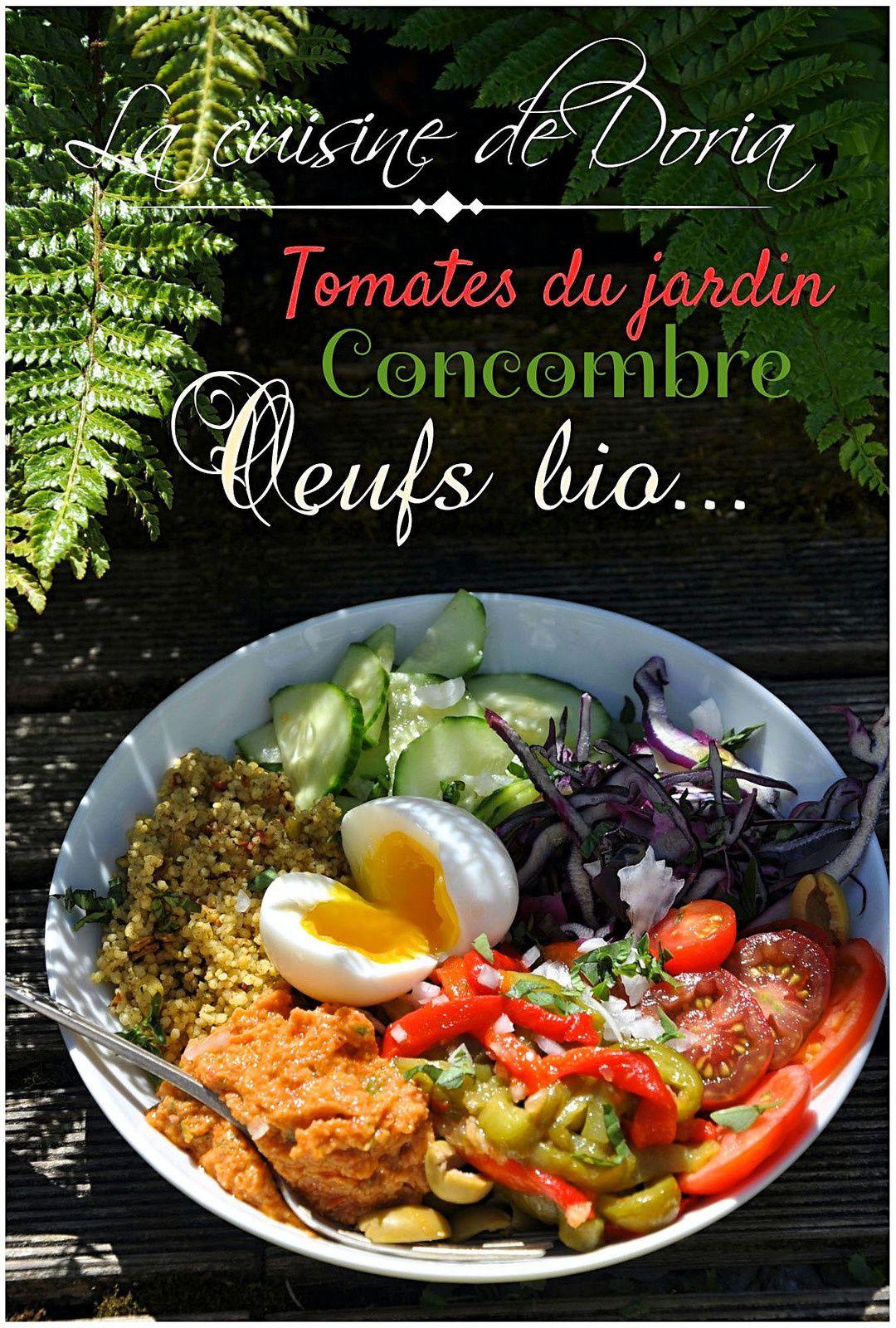 Salade mixte aux oeufs bio