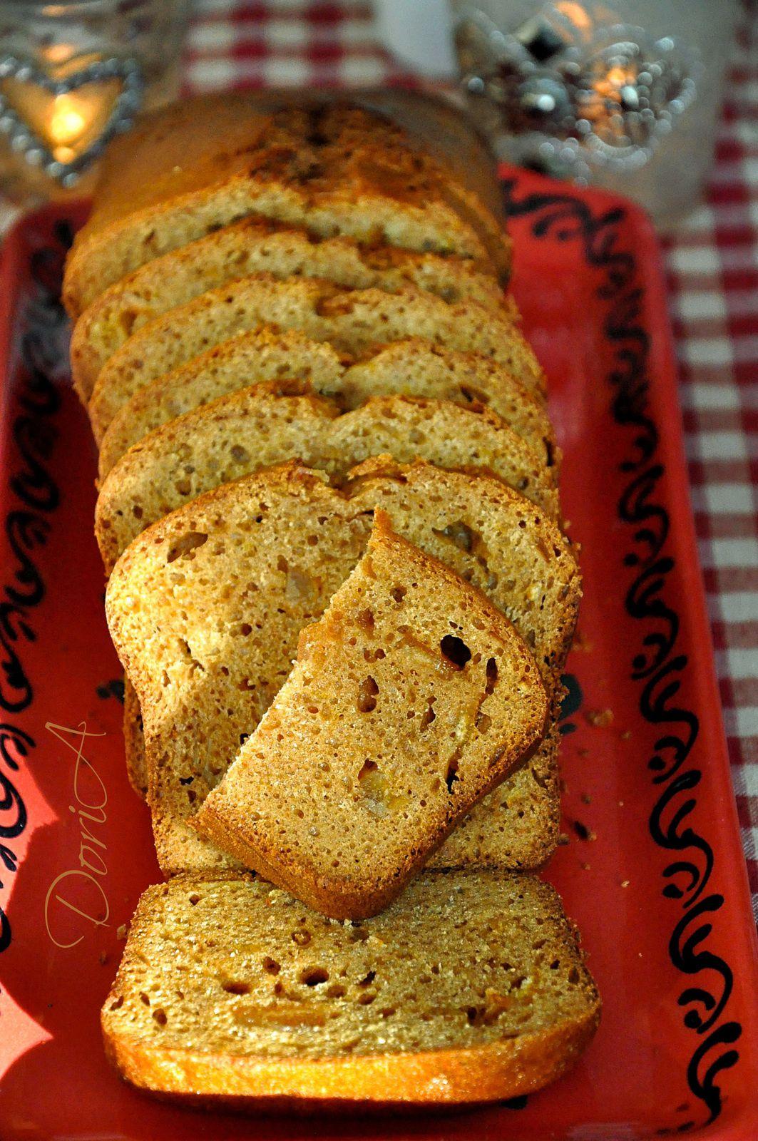 Pain d'épices à la clémentine et orange confites