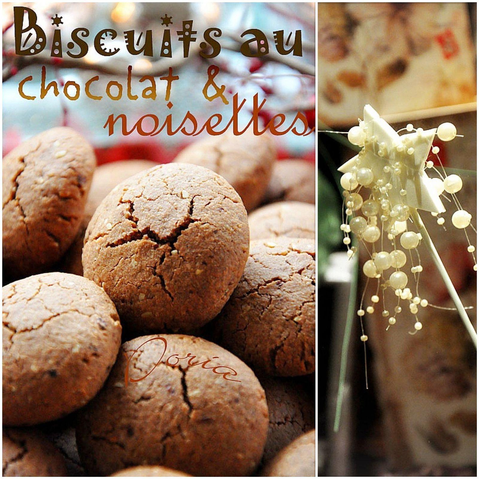 Biscuits au chocolat et noisettes