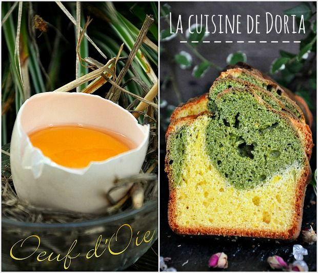 Cake au thé Matcha et orange